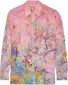Mary Katrantzou Gala Printed Silk-Georgette Shirt - Lyst