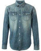 BLK DNM Stone Washed Denim Shirt - Lyst