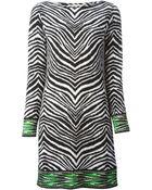 MICHAEL Michael Kors Animal Print Shift Dress - Lyst
