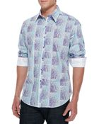 Robert Graham Brando Paisley & Plaid Sport Shirt - Lyst