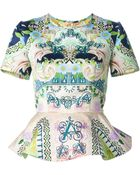 Mary Katrantzou 'Dida Scoop' Peplum Top - Lyst