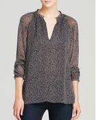 Diane von Furstenberg Top - Printed Silk - Lyst