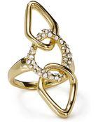 Alexis Bittar Encrusted Link Ring - Lyst