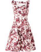 Oscar de la Renta Abstract Floral Print Dress - Lyst