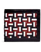 Thom Browne Basketweave Leather Billfold Wallet - Lyst