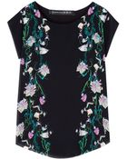 Hermione De Paula Serena Silk Floral Top - Lyst