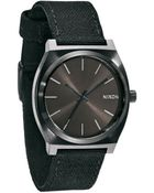 Nixon All Black Canvas Time Teller Watch - Lyst