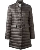 Aspesi Single Breasted Padded Coat - Lyst