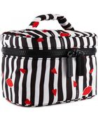Lulu Guinness Cut Out Lips Stripe Vanity Case - Lyst