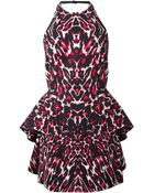 McQ by Alexander McQueen Leopard Print Halter Neck Dress - Lyst
