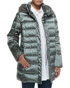 Marina Rinaldi Vienna Quilted Jacket with Fur-trim Hood - Lyst
