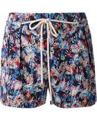 Saloni Drawstring Printed Shorts - Lyst