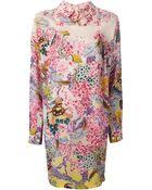 Mary Katrantzou Oriane Floral-Print Silk Dress - Lyst
