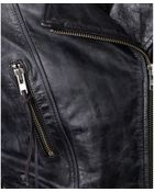 Denim & Supply Ralph Lauren Leather Peplum Moto Jacket - Lyst
