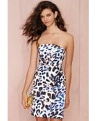 Nasty Gal Cameo Play With Fire Strapless Dress - Lyst