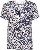 Matthew Williamson Ocelot Morris Print Silk T-Shirt - Lyst