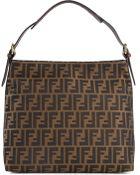 Fendi Ff Logo Hobo Shoulder Bag - Lyst