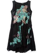 Antonio Marras Lace Applique Dress - Lyst