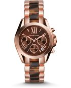 Michael Kors Mini Lexington Rose Goldtone Stainless Steel Chronograph Bracelet Watch - Lyst