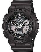 G-Shock Men'S Analog-Digital Gray Resin Strap Watch 55X51Mm Ga100Cf-8A - Lyst