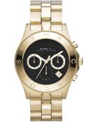 Marc By Marc Jacobs Women'S Chronograph Blade Gold-Tone Stainless Steel Bracelet Watch 40Mm Mbm3309 - Lyst