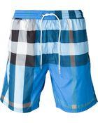Burberry Brit Checked Swim Shorts - Lyst
