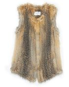 Yves Salomon Knitted Fox Vest - Lyst