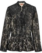 Alice + Olivia Polly Lace Peplum Jacket - Lyst