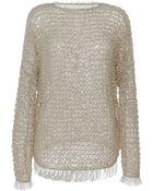 Isabel Marant Raffia Knit Clawson Pullover in Light Beige - Lyst