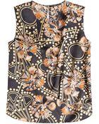Agnona Printed Sleeveless Silk Top - Lyst
