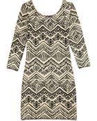 Forever 21 Worldly Girl Bodycon Dress - Lyst