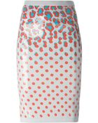 Sibling Sequined Printed Jersey Pencil Skirt - Lyst