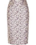 Zac Posen Embroidered Brocade Skirt - Lyst