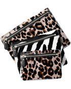 Diane von Furstenberg Voyage Leopard Print Cosmetic Pouch Trio - Lyst