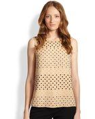 Diane von Furstenberg Jules Sleeveless Embellished Silk Tank - Lyst
