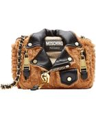 Moschino Textured Mini Shoulder Bag - Lyst