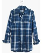 Madewell Flannel Ex-Boyfriend Shirt In Aurora Plaid - Lyst
