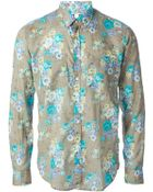 MSGM Floral Print Shirt - Lyst
