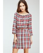 Forever 21 Belted Plaid Dress - Lyst