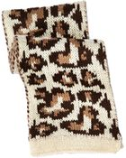 Hat Attack Knitted Animal Print Scarf - Lyst