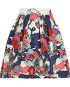 Mary Katrantzou Algernon Printed Faille Mini Skirt - Lyst