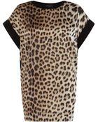 Just Cavalli Leopard Print Panelled Top - Lyst