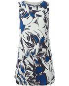 Vanessa Bruno Mini Floral Shift Dress - Lyst