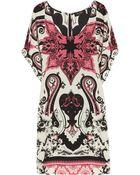 Etro Printed Silk Mini Dress - Lyst
