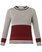 Diane von Furstenberg Micro-Stitch Wool Sweater - Lyst