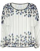 Diane von Furstenberg Blue/Multi Silk Poppy Drip Robyn Top - Lyst