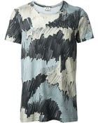 Acne Studios Camouflage Print T-Shirt - Lyst