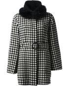 Tsumori Chisato Faux Fur Trim Coat - Lyst