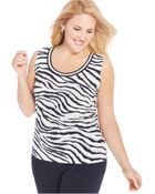 Jones New York Collection Plus Size Sleeveless Printed Shell - Lyst