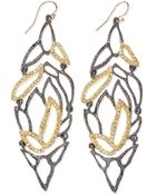 Alexis Bittar Elements Lacy Leaf Earrings - Lyst